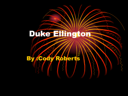 Duke Ellington - Lockland Schools