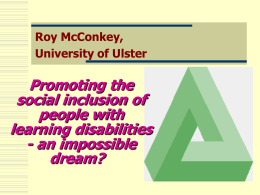 The views of people with intellectual disabilities to