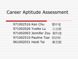 Career Aptitude Assessment