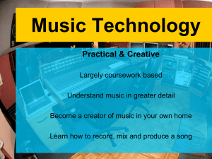 Music Technology - High Storrs School