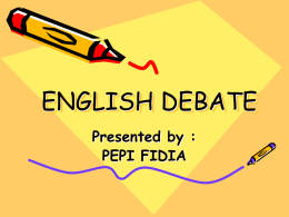 Parliamentary English Debate