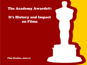 History of the Academy Awards - Alliance Gertz