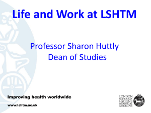 Life and Work at LSHTM - London School of Hygiene & Tropical