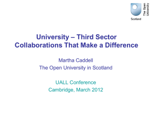 Third Sector Collaborations That Make a Difference