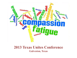 Compassion Fatigue - Texas Association of Regional Councils