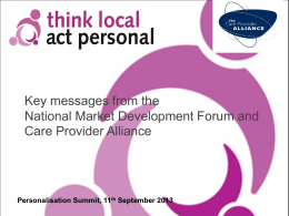 Bill Mumford - Think Local Act Personal