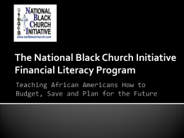 The National Black Church Initiative Financial Literacy Program