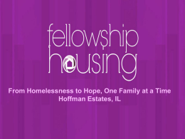 From Homelessness to Hope, one Family at a Time
