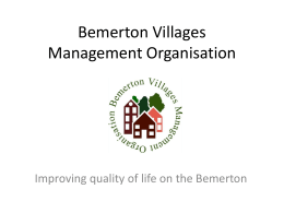 Bemerton Villages Management Organisation