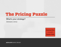 The Pricing Puzzle