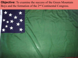 The Green Mountain Boys - Mounds View School Websites