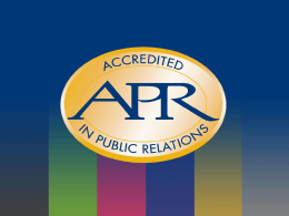Give yourself - Accreditation in Public Relations