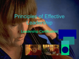 Effective Leadership.Lvl1