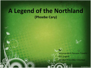 A Legend of the Northland (Phoebe Cary)