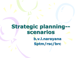 Strategic planning--scenarios - National Academy of Indian Railways
