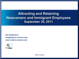 Attracting and Retaining Newcomers and Immigrant Employees