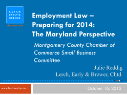 Employment Law – Preparing for 2014