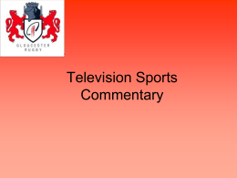 Television Sports Commentary