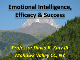 Emotional Intelligence, Self Efficacy & Success