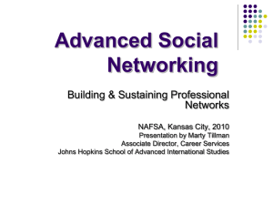 Building & Sustaining Professional Networks