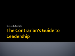 The Contrarian`s Guide to Leadership-vito