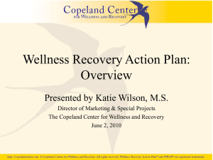 Wellness Recovery Action Plan: Overview