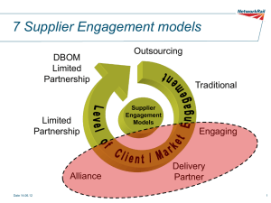 The seven models of supplier engagement