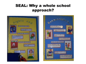 SEAL: Why a whole school approach?