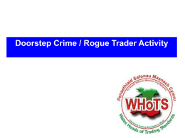 Doorstep crime and rogue trader activity - Andrew Bertie