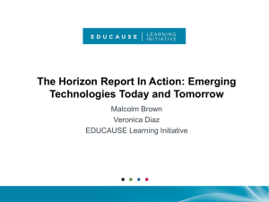 The Horizon Report In Action: Emerging