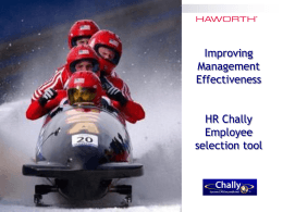 Chally overview presentation - Haworth