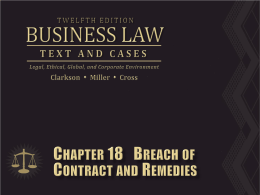 Clarkson, Business Law 12th ed (2012)