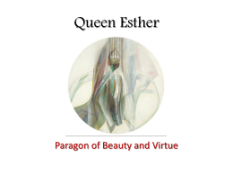 Esther: Paragon of Beauty and Virtue