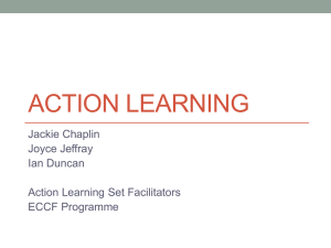 Action learning presentation