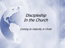 Discipleship - First Trumpet of The Apocalypse