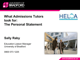 UCAS-application-sal.. - University of Bradford