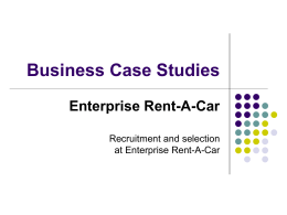 Business Case Studies Enterprise Rent-A-Car