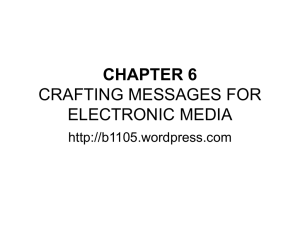 chapter 6 crafting messages for electronic media