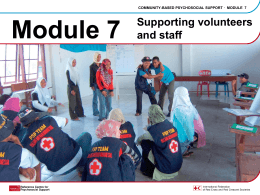 Module 7 - Psychosocial Support IFRC