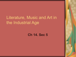 Liturature,MusicandArtintheIndustrial