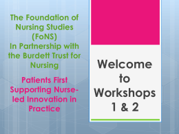 context - Foundation of Nursing Studies