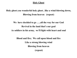 Holy Ghost - Mike from church dot com