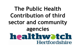 The Public Health Contribution of third sector and