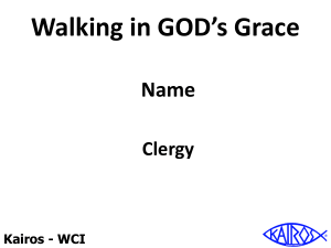 Walking In God`s Grace