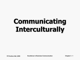 Communicating Interculturally
