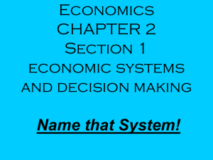 Name that Economic System