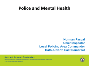 Police and Mental Health - Bath and North East Somerset Council