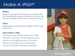 About Make-A-Wish