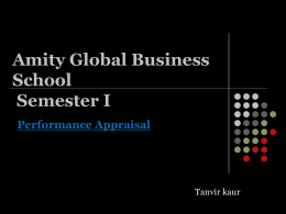 Amity International Business School IMBA Semester I