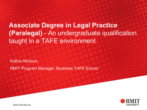 Why choose the Associate Degree in Legal